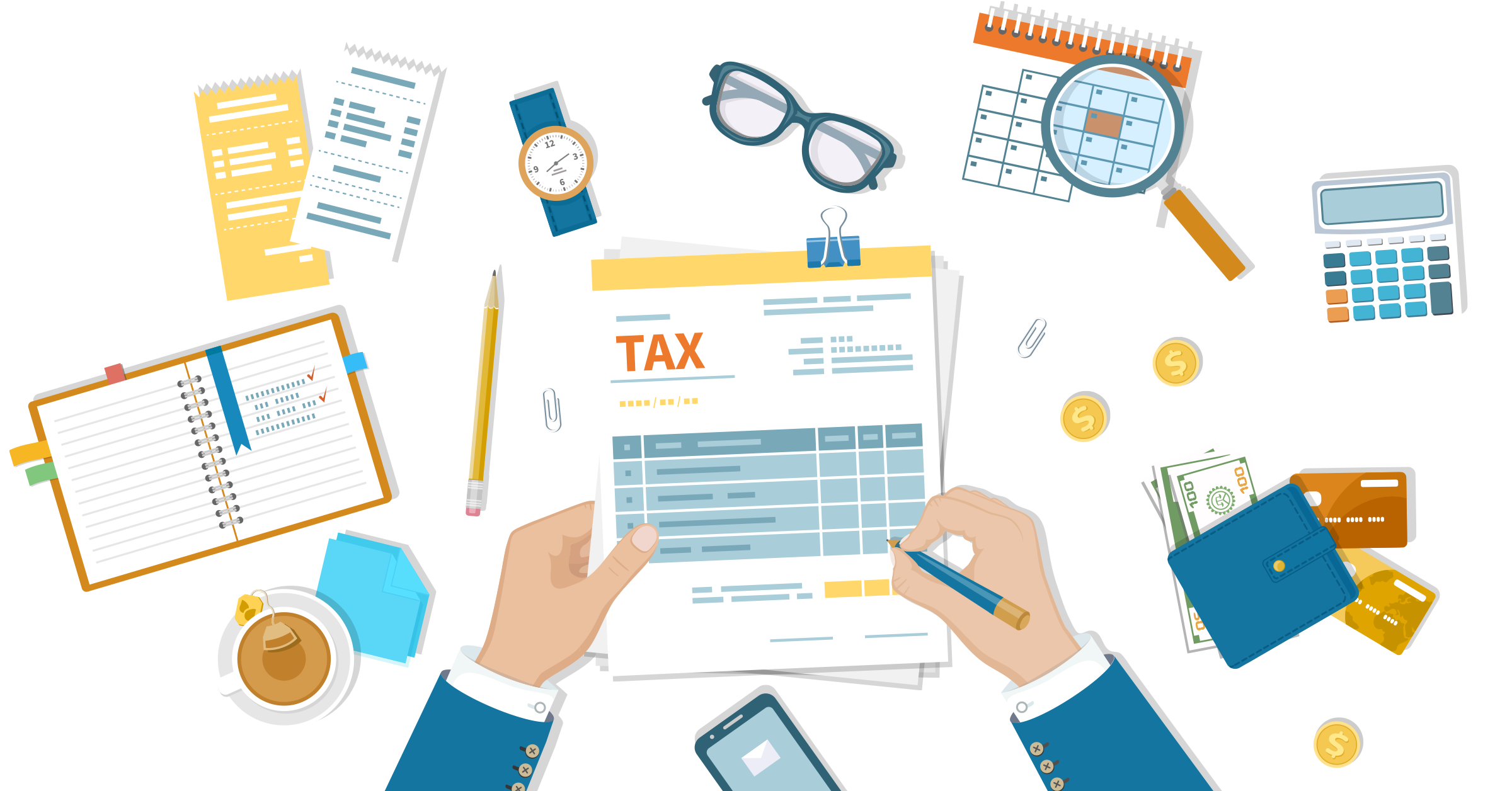 Accounting for taxes on business expenses