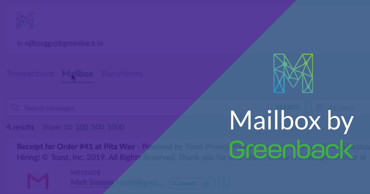 Mailbox by Greenback Fetches Receipts from Your Email